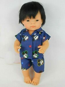 DOLLS CLOTHES FOR 38cm MINILAND DOLL~ BLUE MICKEY MOUSE SUMMER PYJAMA SET