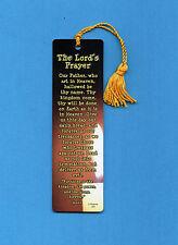 """The Lord's Prayer"" Verse on a Tassel Bookmark (goldenrod tassel) Sku# 504"