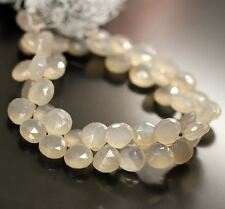 """Rare Champagne Chalcedony Faceted Gemstone Loose Heart Drop Beads Strand 13mm 8"""""""