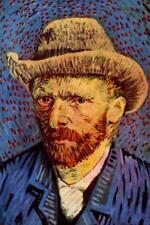 Vincent van Gogh Self-Portrait with Grey Felt Hat II - Poster 24x36 inch