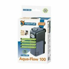 Aqua Flow 100 Dual Action Internal Aquarium Filter Fish Tank Filter 200L/H