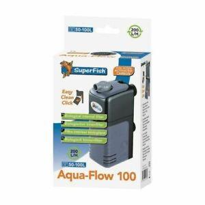 Aqua Flow 100 Dual Action Internal Aquarium Filter Fish Tank Filter 200L/H