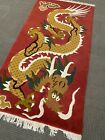 Spectacular Vintage Dragon Nepal Area Rug Wool A+ 3' X 6' Collectible Rare