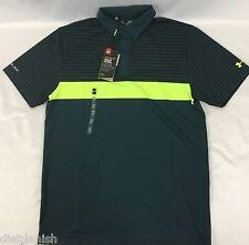 Under Armour MEN'S Athletic Golf Polo Loose HeatGear ColdBlack Dark Green Size M