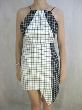 "Staple the Label Size 8 Black and White Designer Dress ""Check you out"" dress"