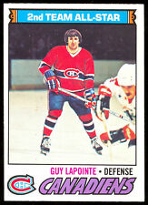 1977 78 OPC O PEE CHEE #60 GUY LAPOINTE ALL STAR NM MONTREAL CANADIENS HOCKEY