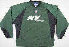 New York NY Jets Reebok football nylon jacket sweatshirt green NFL Large L/G