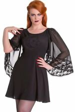 Spin Doctor Ayla Mini Dress Hell Bunny Fortune Teller Witch Black Cape Wicca M