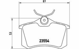 4x BREMBO Plaquettes de frein Arrière pour RENAULT MEGANE MODUS SCÉNIC P 68 024