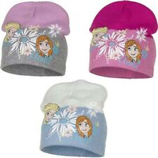 Childrens Girls Disney Frozen Winter Beanie Hat