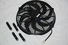 "ZIRGO BLU 14"" 2122 CFM S Blade Radiator Cooling Fan street rod 12v ZFB14S"