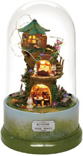 Rylai 3D Puzzles Miniature Dollhouse Diy Kit The Forest Whim Series Rotate With