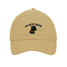 My Best Friend Black Lab Dog Embroidered SOFT Unstructured Adjustable Hat Cap