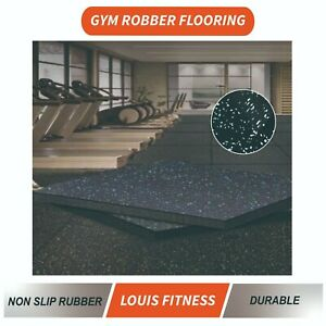 4PCS Rubber Gym Flooring Rolls Non-Toxic High Density Exercise GYM Mat