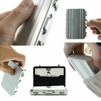 Metal Aluminum Password Briefcase Business ID Credit Card Holder Case BoxWa C2U3