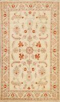 Geometric Ivory Peshawar Oriental Area Rug Home Decor Handmade Wool Carpet 4x7