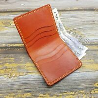 Leather Wallet- Mens Bifold Wallet-Minimalist Leather Wallet-Compact Wallet