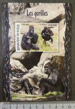 Niger 2016 gorillas apes mammals animals s/sheet mnh