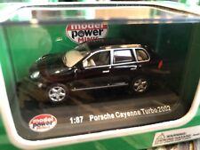Model Power Minis 1:87 HO Porsche Cayenne Turbo 2002 (black) - Item #19340 (NIB)