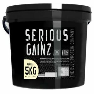 Serious Gainz Weight Gainer 5kg Muscle Mass Gain Protein Powder Shake - Vanilla