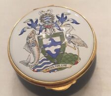 Staffordshire ENAMEL BOX ENGLAND water For Life Hand painted