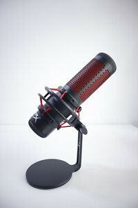 HYPERX HX-MICQC-BK Quadcast Gaming Microphone Mic - Black - Voice Recording