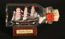 Cutty Sark Mini Buddelschiff 10 ml 5x2 cm original Flaschenschiff Handmade