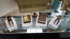 SHOWER DOOR GLASS CLIP (NO CUT OUT REQUIRED) NEW BRUSHED BRONZE OR POLISHED GOLD