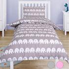 Elephant 100% Cotton Baby Kids Cot Crib Pram Duvet Cover Pillowcase Bedding Set
