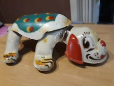 Mobo Puppy Walking Tin Toy With Squeeze Mechanism Mid Century