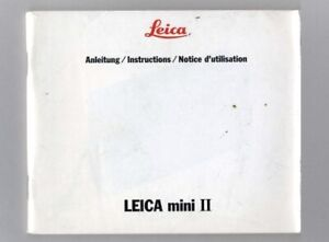 Leica Mini II Instruction Manual Original (English French German)