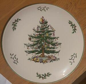 """Spode Christmas Tree Gateau/Cake Plate 11.5"""" (29cm)"""
