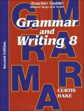 Saxon Grammar & Writing Grade 8 Teacher Guide Edition Answer Keys Tests 8th