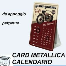 HARLEY DAVIDSON RETRO CALENDARIO METALLICO 10X14 CM METAL CARD CALENDARS
