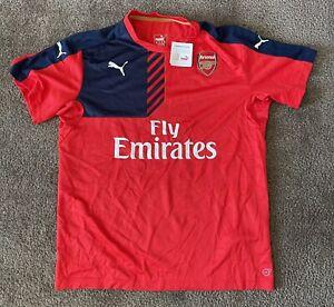 New W/ Tags Arsenal Gunners XXL Puma Soccer Jersey 15/16 Puma Fly Emirates
