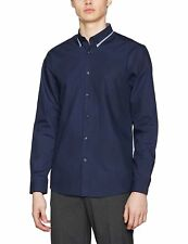 New Look Men's Dobby Trim Double Collar Casual Shirt XL New With Tag