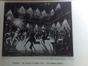 1930s Woodcut Print Maxims by Graham S Dudley Page: Dancing, Ballroom