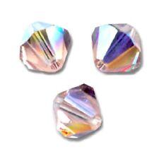 20 Perles Toupies 4mm cristal Swarovski - VINTAGE ROSE AB