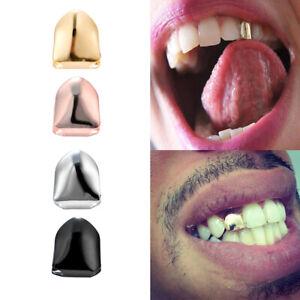 14K Gold Plated Single Teeth Grillz for Women Men Grill Cap Hip Hop Custom