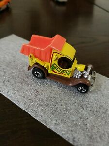 Vintage 1977 Hot Wheels Yellow and orange  A Truck'n Dump Truck Rare - truckin