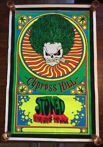 Vintage ~ Cypress Hill ~Flocked Blacklight Poster ~ 1993 ~ Rare ~ Rap ~ Stoner