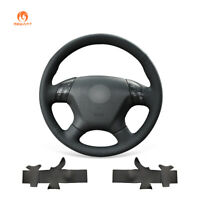 Black Artificial PU Leather Steering Wheel Cover Wrap for Honda Accord 7 Odyssey