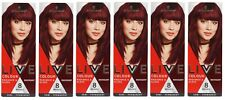 6 x SCHWARZKOPF LIVE COLOUR 8 WASHES HAIR COLOUR MAHOGANY Brand New