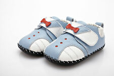 Baby Boys Infant Toddler Children's  Blue&White  Real Premium Leather Tux Shoes