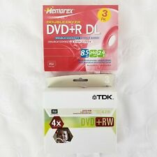 TDK DVD+RW Rewritable DVD 4.7 GB 3 PK / Memorex DVD+R DL Double Layer 3 Pk
