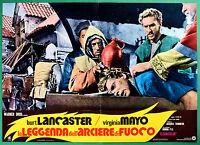 T29 Fotobusta El Leyenda Dell'Arquero Por Fuego Burt Lancaster Virginia Mayo 4