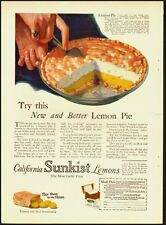 1925 Vintage ad for California Sunkist Lemons/Lemon pie (040213)
