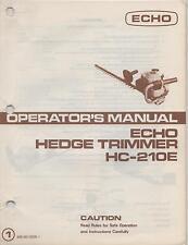 ECHO HEDGE TRIMMER OPERATOR'S MANUAL HC-210E, P/N 898 561-0296 1 (554)