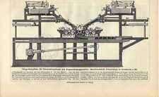Antique print Printing press paper snelpers pers 1907
