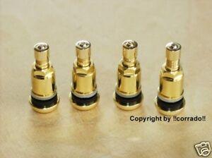 """>vergoldet< Felgen-Metall-Ventile Ventil 11,3 mm BBS,OZ,RH_VW + Audi """"gold"""""""